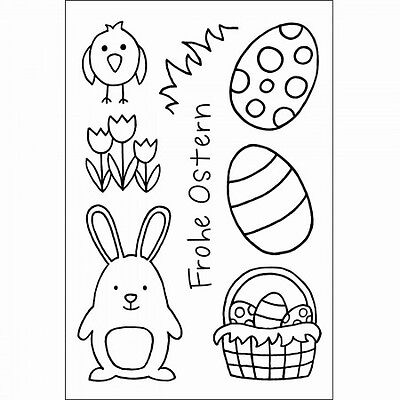 EFCO Clear Stamps Stempel Frohe Ostern 8-tlg. 4511245