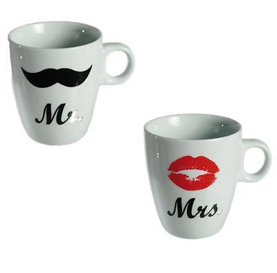 Coppia TAZZA TAZZE MR MRS EC idea regalo ceramica