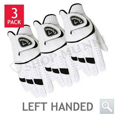 CALLAWAY Golf Gloves 3 Pack New/Opened or Re-Packaged, Left Hand