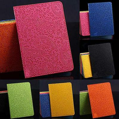 Lavender Travel Passport Holder Cover Leather ID Card Ticket Enticing Case 5o