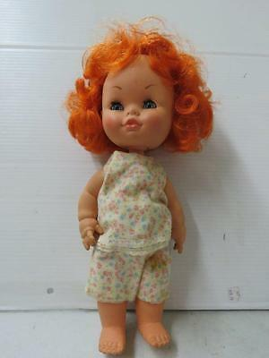 """A VINTAGE MIGLIORATI DOLL Red Hair 14"""" Italy  19804"""