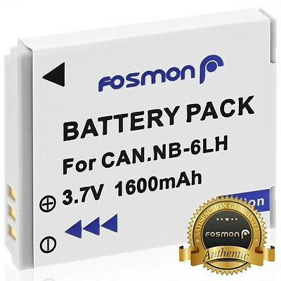 Fosmon NB-6L Replacement Li-Ion Battery For Canon SX280 SX260 SX500 IS D20 S95