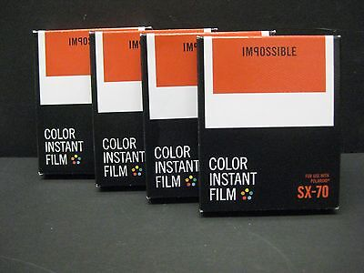Impossible SX 70 Color Protection Film polaroid SX-70 Cameras 4 packs of film