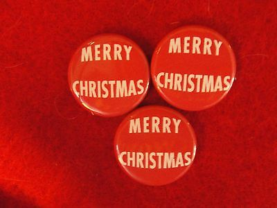 "Merry Christmas Pin Back Buttons - 7/8"" Round"