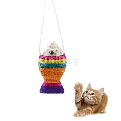 Animal Chien Chat Chaton Jouet Forme Poisson en Sisal Action Formation
