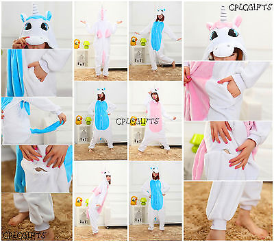 Unicorn Flannel pajamas Unisex cartoon animal onesie Cosplay costume jumpsuit