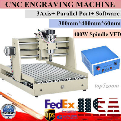 3Axis 3040 Engraver CNC Router Desktop Engraving Drill Mill Carving Machine 400W