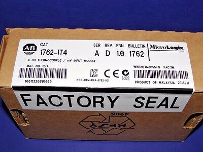2015 - 2016 FACTORY SEALED Allen Bradley 1762-IT4 /A Thermocouple/mV MicroLogix
