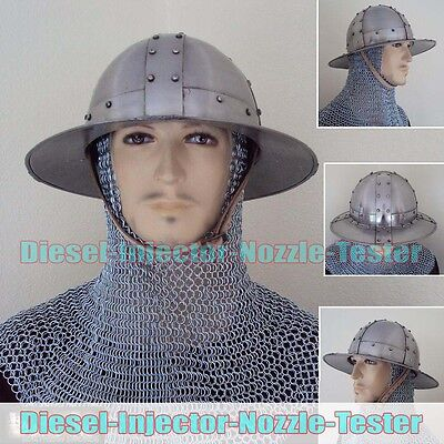 English Kettle Helmet Deluxe Costume/ LARP/ SCA/ Collector Edition Armor Costume