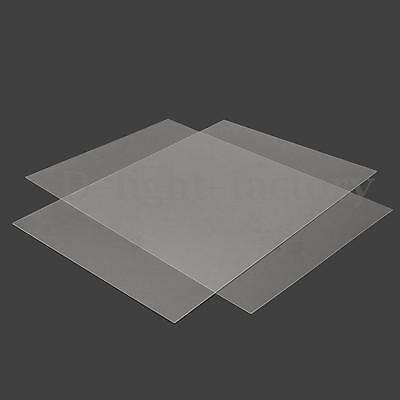 New Clear Multi-size Acrylic Perspex Sheet Cut to Size Panel Plastic Satin Gloss