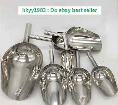 Stinless Steel Metal Ice Scoop Sweet Food Wedding Buffet Party Candy Pet Kitchen