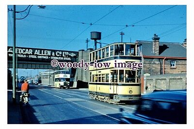 gw0092 - Sheffield Tram no 69 at Attercliffe in 1959 - photograph