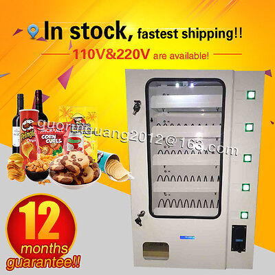 12 months warranty,candy vending machine,dispenser for snacks with coin acceptor