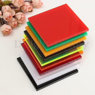 5mm A3 A4 A5 A6 10 Color Acrylic Perspex Sheet Cut to Size Panel Plastic Satin