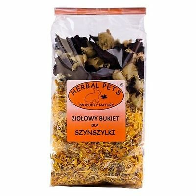 Bouquet Herbs Food for Pet Chinchilla Marigold Flower, Guinea Pig Rabbits 100g