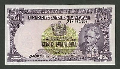 NEW ZEALAND - £1  (Cook)  P159d  About EF  ( Banknotes )