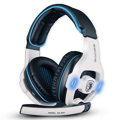 Sades SA-903 Noise Cancelling USB Gaming Headset with Mic Volume Control