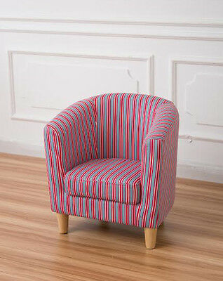 children's tub chair kid's armchair soft fabric chair blue and red stripe