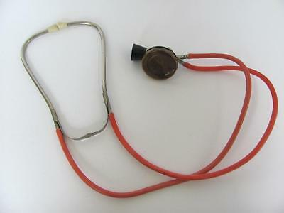 Vintage Medical Metal & Rubber Binaural Stethoscope