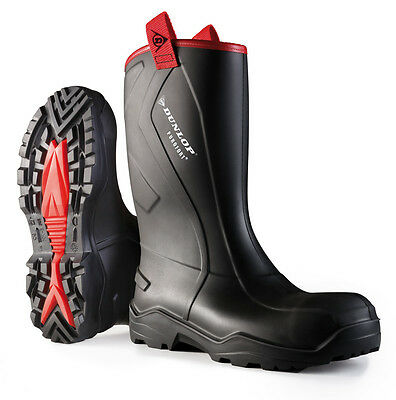 Dunlop  Rugged Full Safety Rigger Boot Purofort+ Black