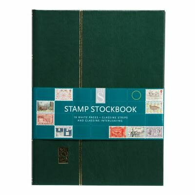WHSmith Stamp Stockbook 16 White Pages With Glassine Stipes Assorted Colours