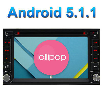 "DAB+ 32GB 6.2"" 4 Core Android 5.1 Double 2 Din Sat Nav 3G WiFi DVD GPS Radio BT"
