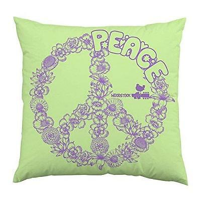 Woodstock - Peace Logo Cotton Plush square Cushion - New & Official