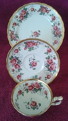 Royal Chelsea Porcelain Trio Cup And Saucer Set