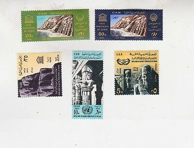 egypt Sc 661/3,C108/9 two sets MNH UNESCO       f778