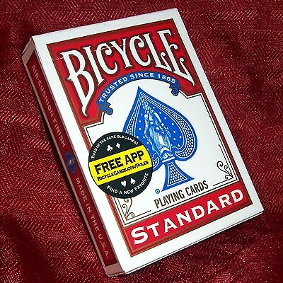 Professional Invisible Card Deck - Red Bicycle Back - Magic Trick - 13-count