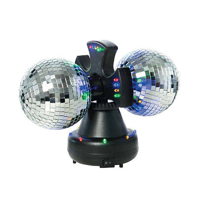Rotating Mirror Ball Light Stage Effect DJ Single Unit Disco Vibe 32 LED Reflect