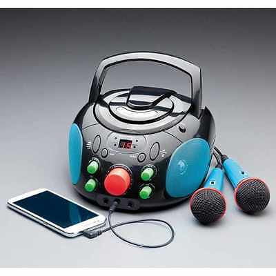 Karaoke Machine CD Player Audio Stereos Components Audio Players Mic Amplifier