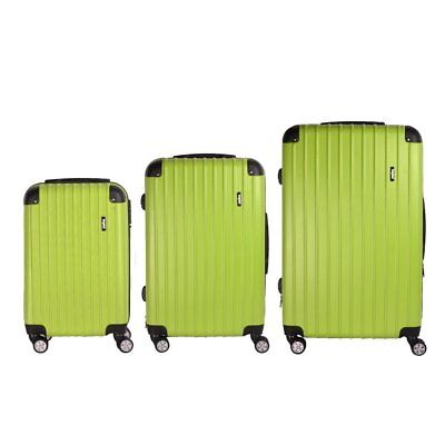 "Lightweight Small 20"" Wheeled Hand Luggage Trolley Cabin Flight Zip Bag Suitcase"