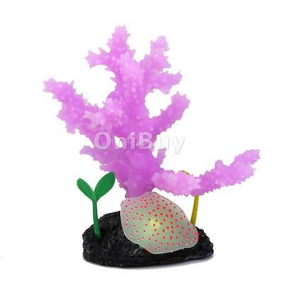 Ornement Aquarium Decoration Réservoir De Poissons Corail Silicone - Violet