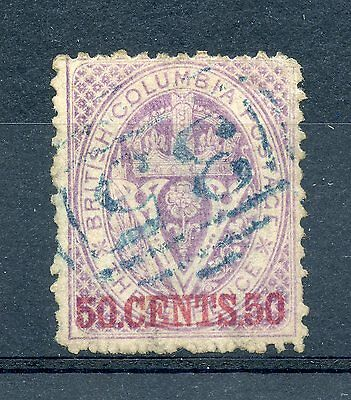 Weeda British Columbia 17 Sound F/VF used 50c on 3p violet 1869 issue CV $1,100+