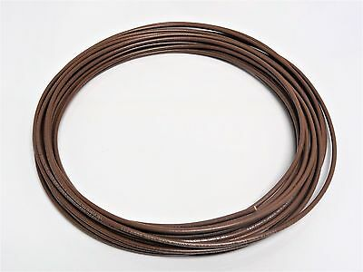 18 GAUGE WIRE BROWN 50 FT PRIMARY AWG STRANDED COPPER POWER REMOTE MTW  MACHINE