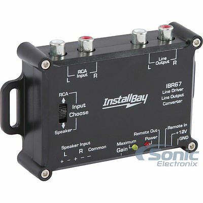 Install Bay IBR67 2 Channel Line Driver/Line Output Converter