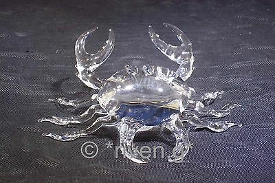 CRAB@Figurine@CRYSTAL Glass CRUSTACEAN@Collectable Gift@BEACH@NIPPERS@MARINE@SEA
