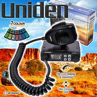 Uniden 80 Channel Uh5000Nb Uhf Cb Radio 5W 5 Watt Mobile Two Way New 4X4 4Wd