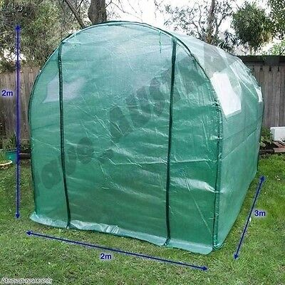 Garden Greenhouse Walk-In Green Hot Plant House Shed Storage PVC Cover 3m x 2m