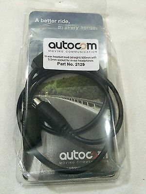 AUTOCOM STRAIGHT EXTENSION LEAD WITH 3.5MM SOCKET FOR IEM's Part No:2129