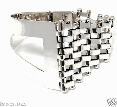 Taxco Mexican 925 Sterling Silver Sleek Modern Chain Link Bracelet Mexico