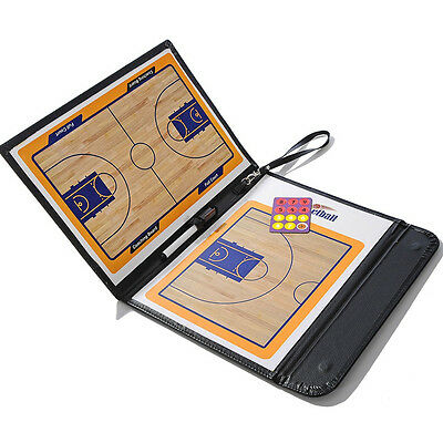 Magnetic Basketball Coaching Dry Erase Clipboard Tactical Board with Marker Pen