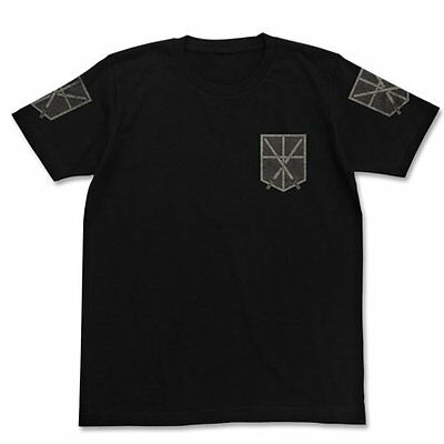 Attack on Titan training Corps T-shirt Black Size: L (japan import)