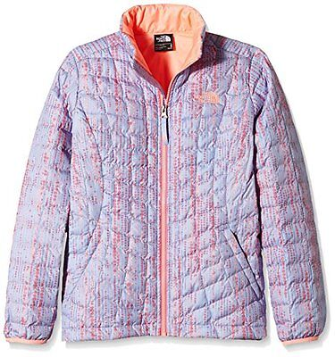Girl's The North Face Thermoball-Giacca con Zip intera, collo alto con stampa, m