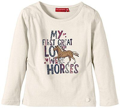 SALT AND PEPPER - Longsleeve Horses Schrift uni, T-shirt per bambine e ragazze, • EUR 7,00