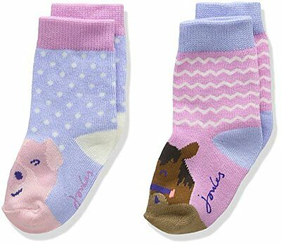 Joules Baby Girls Character Socks - Calze Bimbo, multicolore (horse), taglia S (
