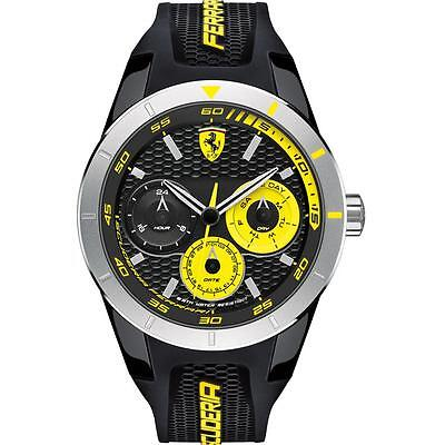 Ferrari Watch - Redrev, Gents Qtz, Plas Rnd Case, B