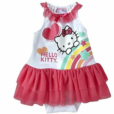 Hello Kitty bambini body Bambina con tutù Rock Einteiler 68 - 74