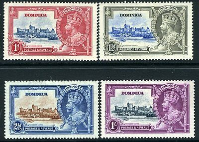 DOMINICA-1935 Silver Jubilee Set Sg 92-95  MOUNTED MINT V12495